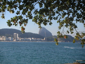 Copacabana adn Sugar Loaf Mountain