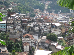 One of the many favelas